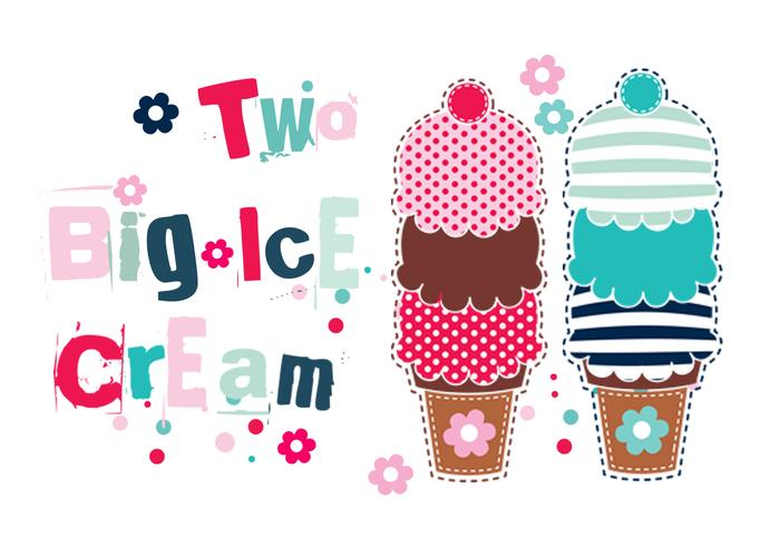 Two Big Ice Cream Cones Brush Pack