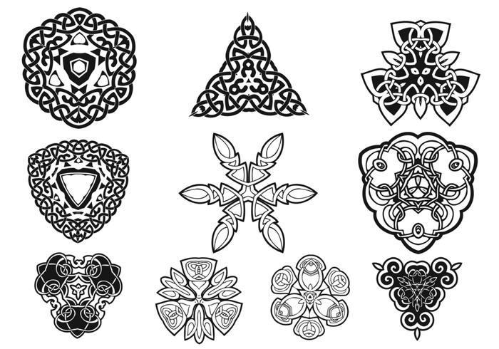 Celtic ornaments brush pack