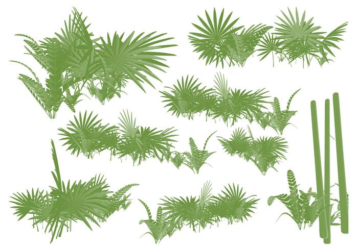 Exotische Sumpfbüsche Brushset