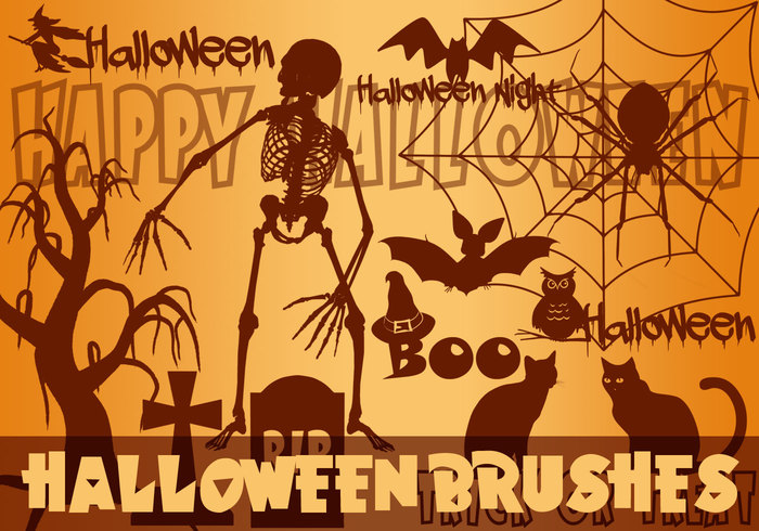 Halloween borstar