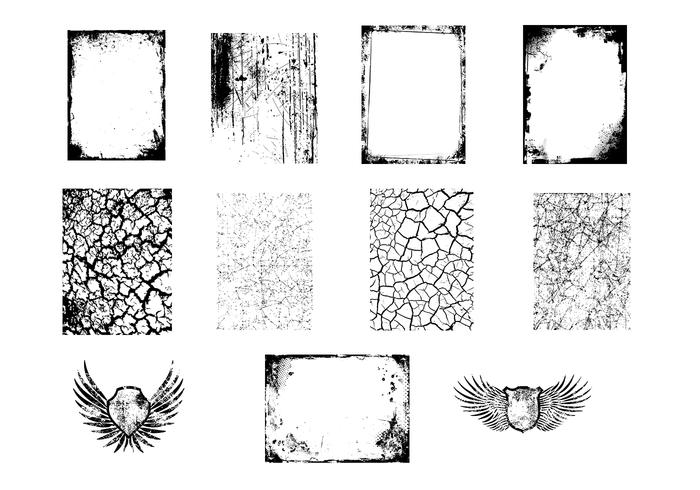 Grungy Textures and Wings Brush Pack
