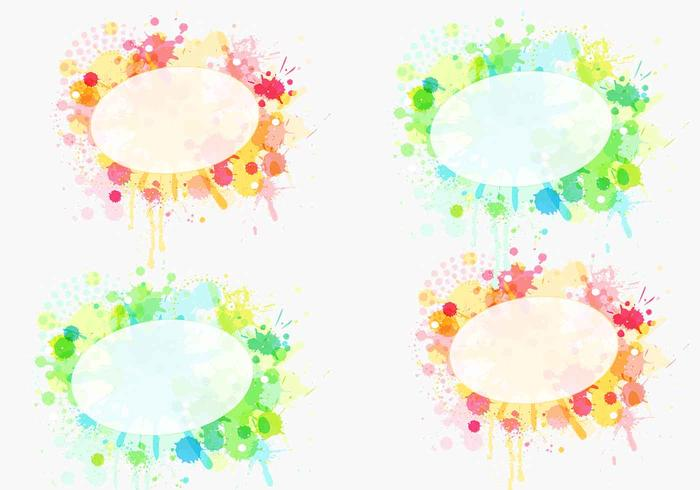 Paint Splat Label Brush Pack