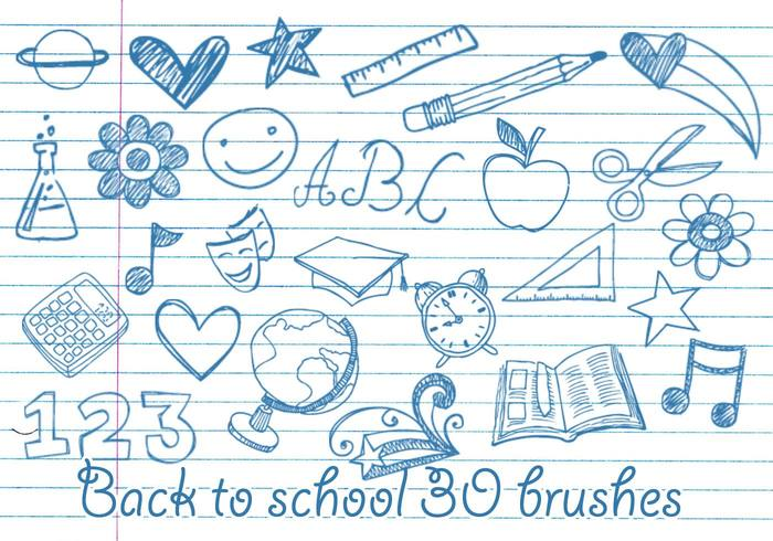 School Doodles Brushes