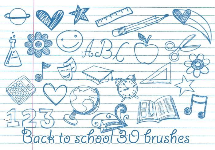 School Doodles Brushes