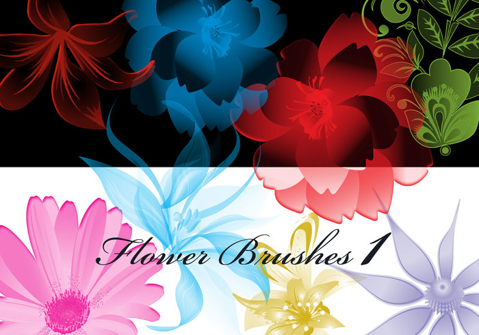 Whimsical Artwork 37 Hi Res Floral Photoshop Brushes Volume1