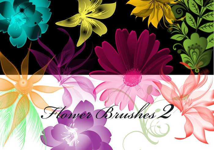 Arte finala lunática 43 Hi Res Floral Photoshop Brushes Volume2