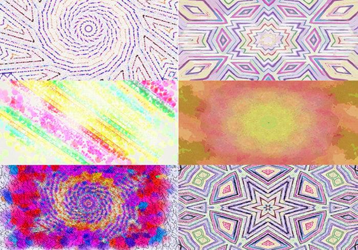 Färgglada texturer