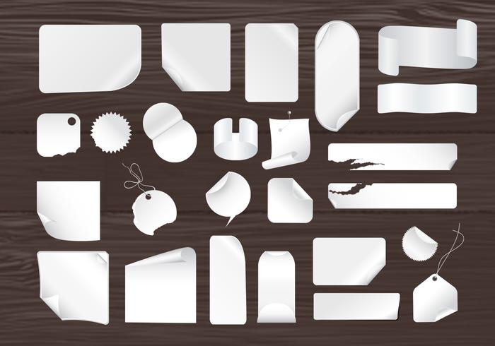 Sticky Notes and Wood Panels PSD Pack