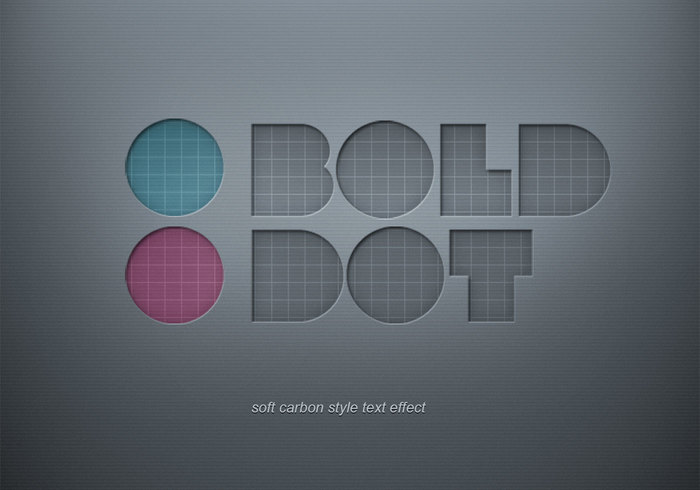 Soft Carbon Text Effect