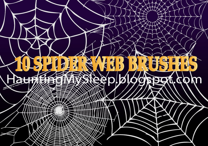 10 pinceaux Web Spider!
