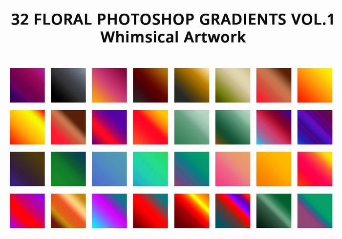 32 Photoshop Gradients para Photoshop