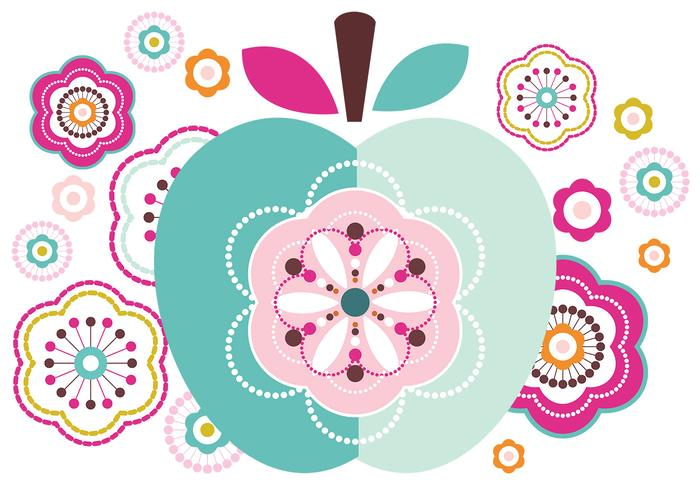Abstrakt Apple och Flower Brush Pack