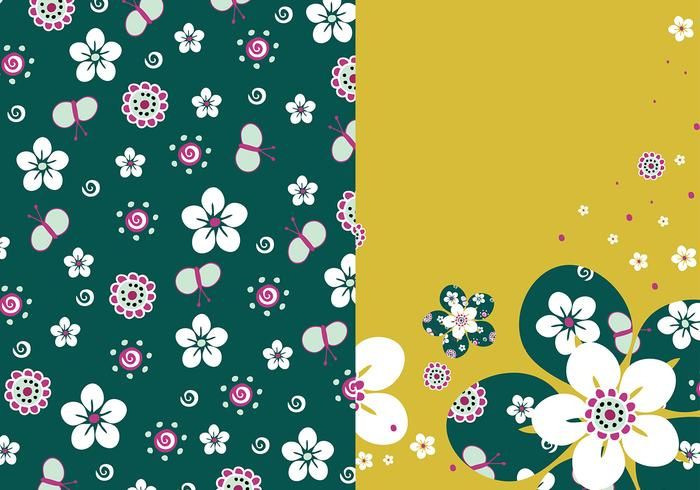 Emerald Floral Photoshop Wallpaper Pack