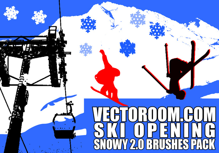 Escobillas nevadas vectoroom 2.0