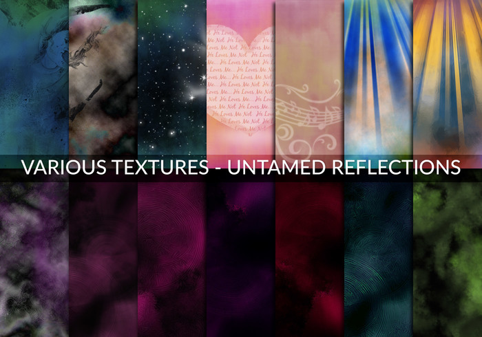 Various textures - Untamed Reflections