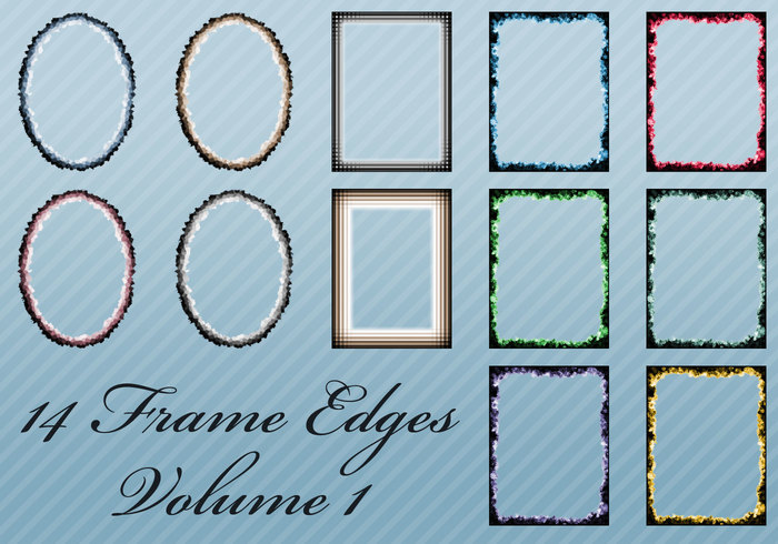 14 Frame Edges for Photoshop