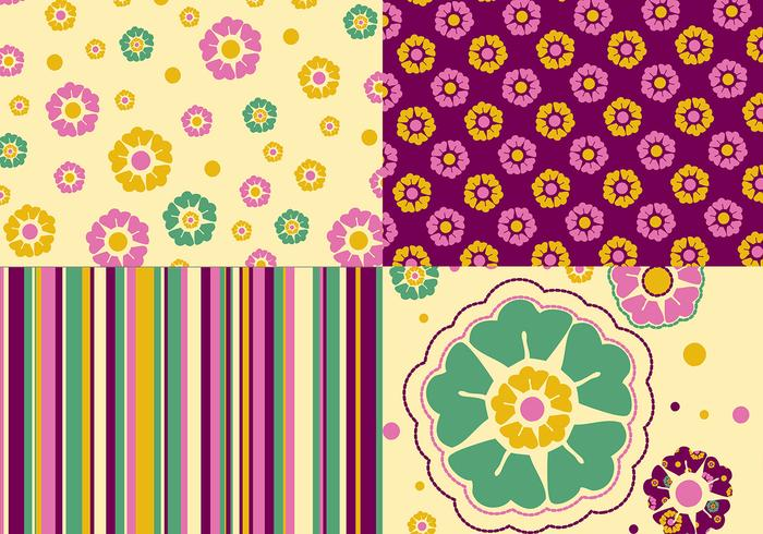 Floral Photoshop Wallpaper, Pattern, and Brush Pack
