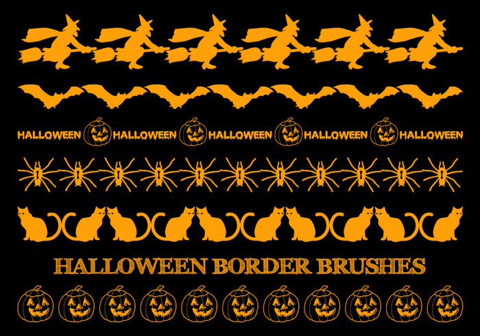 Brosses de bordure de Halloween