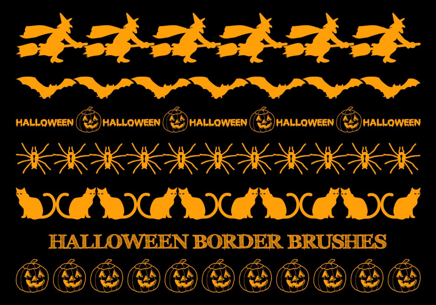 Halloween Border Brushes Free Photoshop Brushes At Brusheezy