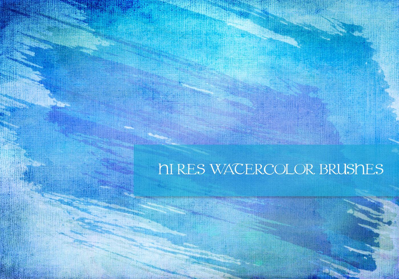 free watercolor brush set