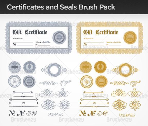 Certificats et scellés Brush Pack