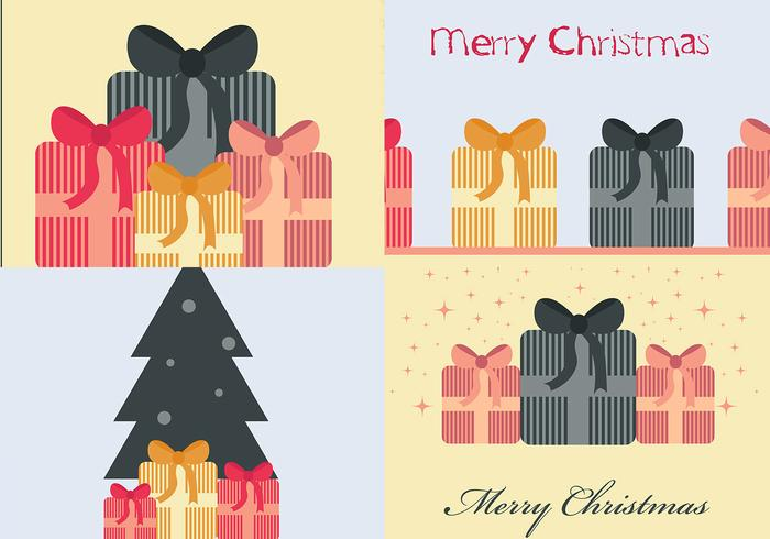 Kerstcadeau Photoshop Wallpaper Pack