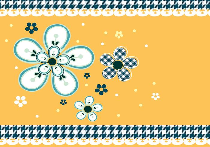 Gingham and Daisies Photoshop Wallpaper and Brush Pack