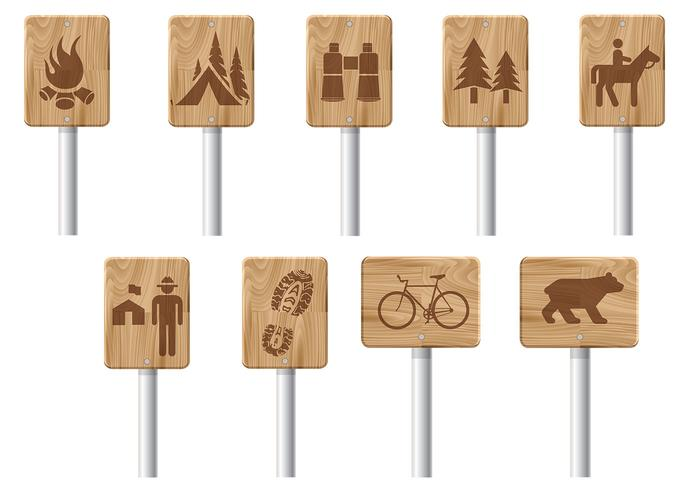 Wooden Recreation Signs Brush Pack