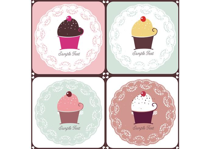 Doilies och Cupcakes Brush Pack