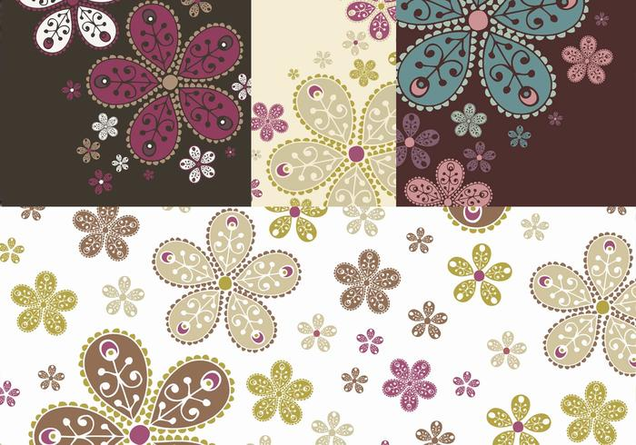Decorated Floral Banner and Brush Pack