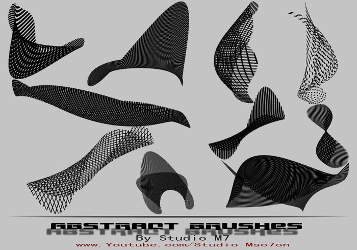 Abstract Bend Brush Set 1.0  - Studio M7