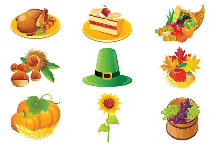 Icônes de Thanksgiving Brush Pack