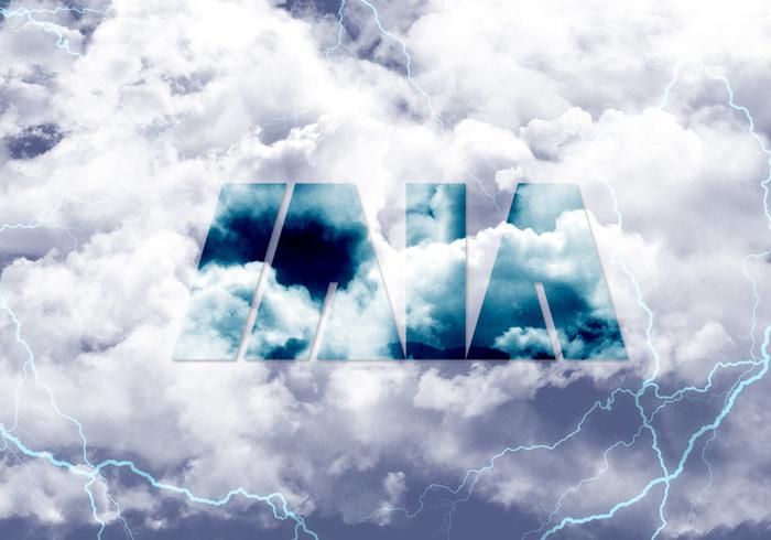 Wolken mit MIA PSD