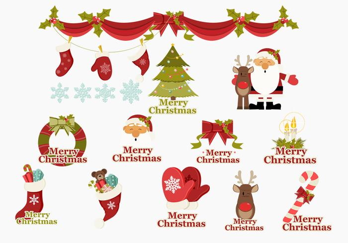 Merry Christmas Icons Brush Pack