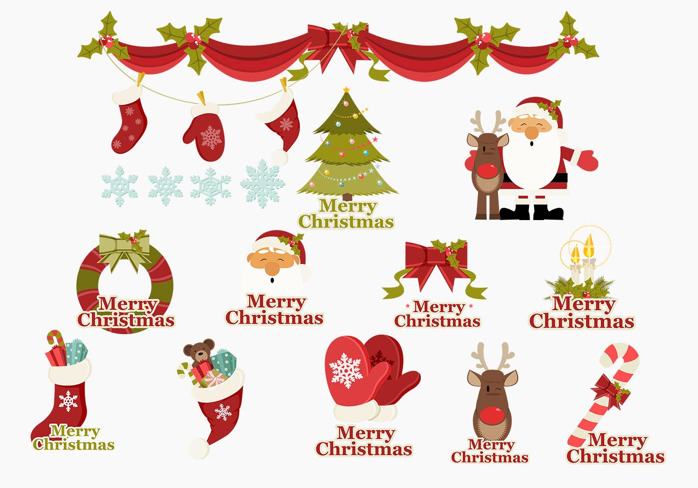Merry Christmas Icons Brush Pack - Free Photoshop Brushes at Brusheezy!