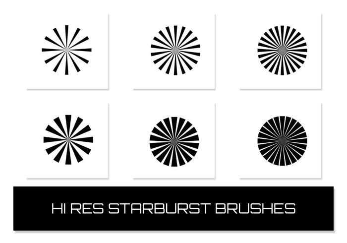 Starburstborstar (6 Hign Resolution Brushes)