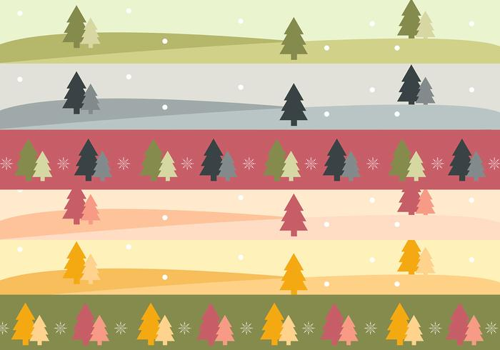 Christmas Tree Landscape Banner and Brush Pack