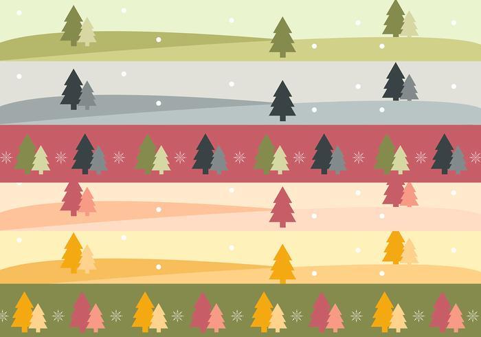 Árbol de Navidad Banner Paisaje y paquete de cepillo
