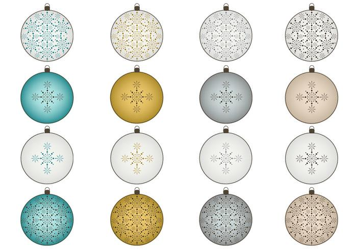 Snowflake Christmas Ornaments Brush e PNG Pack
