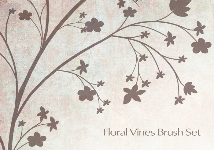 Floral vines Photoshop brushes