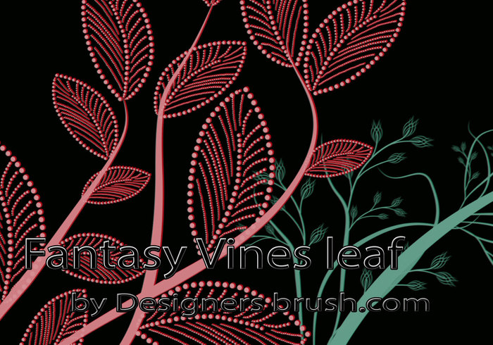 Fantasy Vines leaf Photoshop brushes