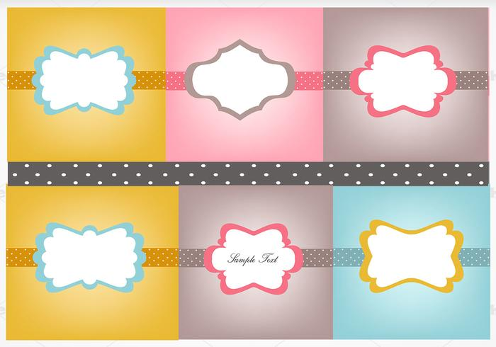 Vintage Polka Dotted Label Brush och Photoshop Wallpaper Pack
