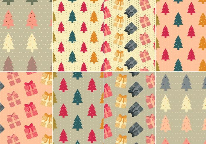 Christmas Tree and Presents Photoshop Pattern Pack