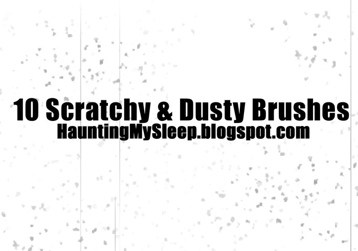 10 Subtile Scratchy und Dusty Grunge Pinsel