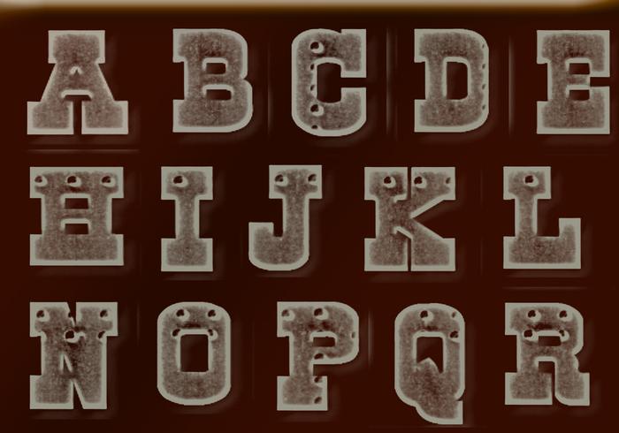Letras de metal