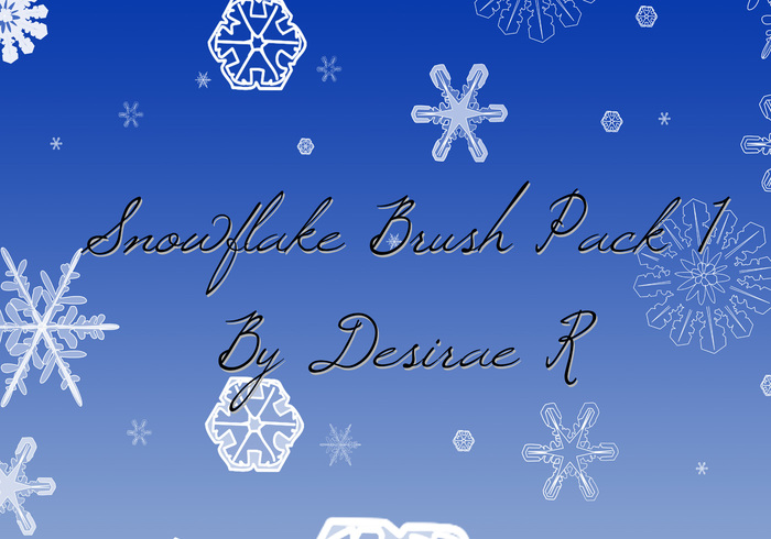 Snowflake Brush Pack 1