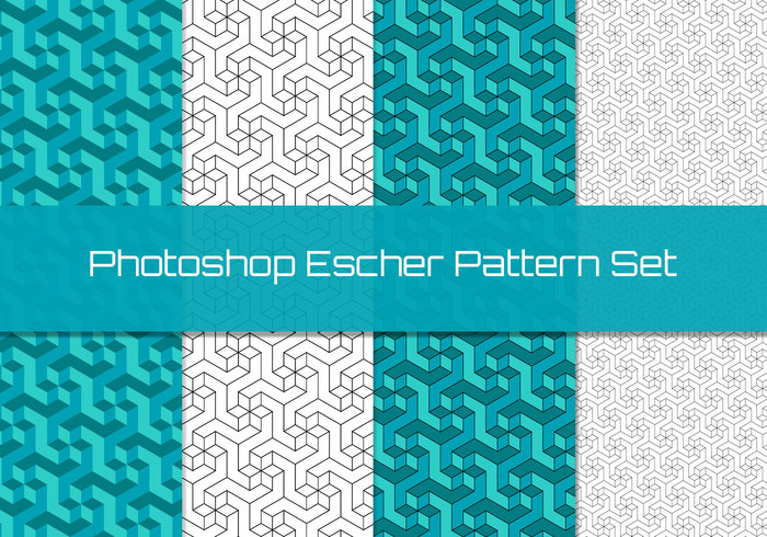 Geometrisch Escher Patroon