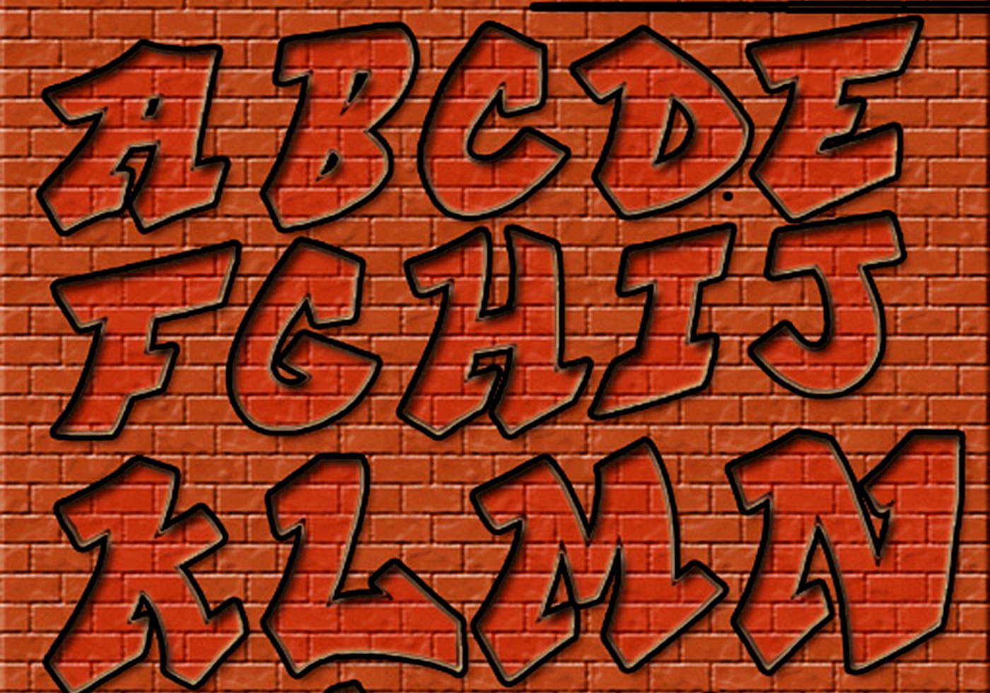 Graffiti letters free photoshop brushes at brusheezy - Graffiti alfabet ...