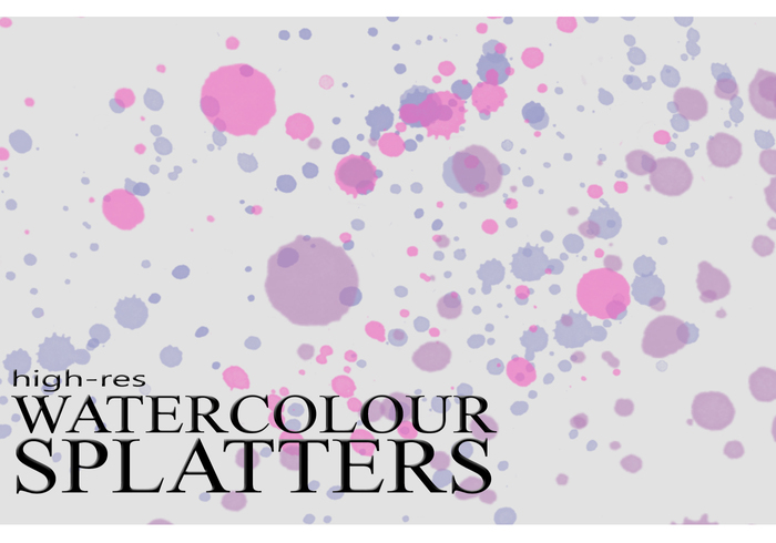 High-Res Watercolour Splatter Brushes
