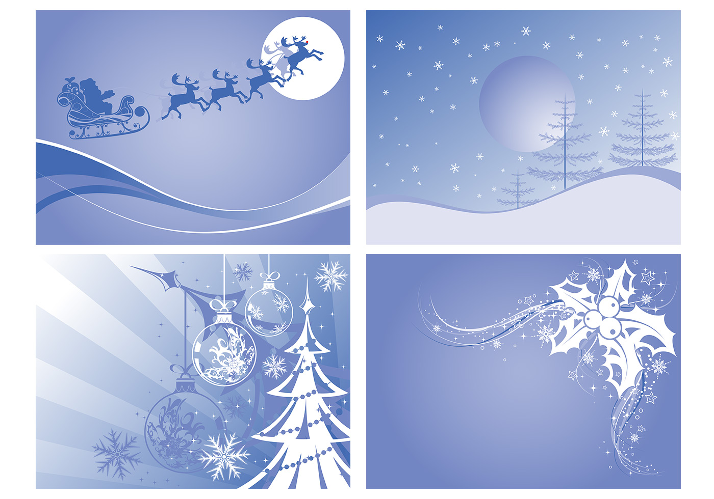 christmas landscapes photoshop wallpaper pack - free photoshop